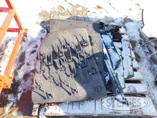Pallet of asst cultivator sweeps plow lays pickup head belts 1 jpg
