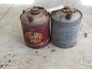 2 Vintage Oil Cans 0 jpg