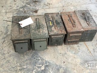 5 Ammo Cans with Assorted Ammo 0 jpg