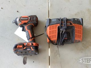 18 Volt Ridgid Impact Driver with Charger 0 jpg