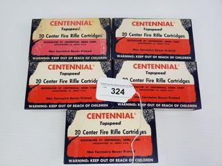 5   Boxes of Centennial  22 250 Ammo