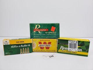 4   Remington  Winchester  243 Ammo