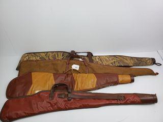 J C Higgins  Wetlands Camo  leather Gun Cases