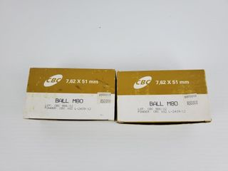 2   Boxes of CBC 7 62x51mm Ammo