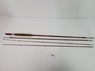 Vintage Montague Flash Tonkin Bamboo Rod
