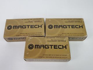 3  MagTech Boxes of  45 ACP Ammo