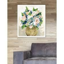 Oliver Gal  June Peonies  Floral Pink Contemporary Framed Wall Art Print  Retail 112 99