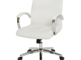 Executive low Back Faux leather Chair with Chrome Arms and Base   single  Retail 164 99