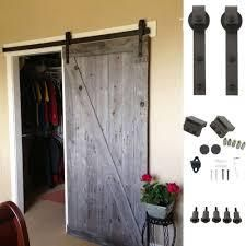 Ainfox 6 6FT Classic Rustic Sliding Barn Wood Door Hardware Track