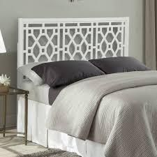 Porch   Den Greenwood Chippendale Headboard only white finish queen