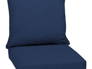 Arden Selections DriWeave Sapphire leala Outdoor Deep Seat Cushion Set   46 5 in l x 25 in W x 6 5 in H