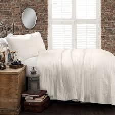 The Gray Barn Watertop Pom Pom Stripe 3 piece Quilt Set  Retail 164 49