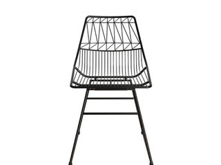 Cosmoliving by Cosmopolitan Astrid Wire Metal Dining Chair  Retail 98 99