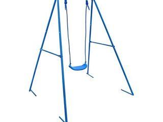 AlEKO BSW01 Outdoor Sturdy Child Swing Seat   Blue Green