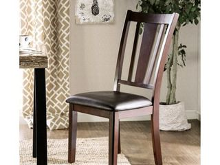 Furniture of America Vays Contemporary Espresso Dining Chairs  Set of 2  Retail 153 99