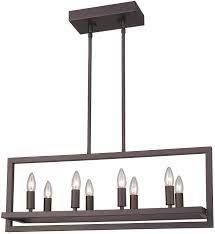 emliviar 8 light Modern Rectangular Chandelier Oil Rubbed Bronze Finish   Oil rubbed Bronze   34 6  x 11 3  x 45  Retail 81 48