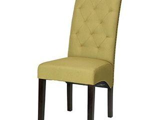Cortesi Home Perri Camelback Dining Chair  Set of 2  Retail 205 49
