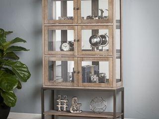 Bellstrom lighted Contemporary Curio Display Cabinet  Retail 438 99