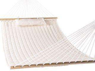 lazy Daze Hammocks Double Quilted Fabric Swing with Pillow hammocks  55  Natural