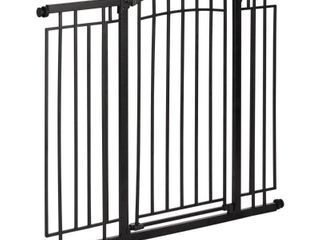 Evenflo Multi Use Decor Talk Walk Thru Metal Gate  Black