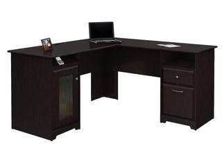 Bush Cabot l Shaped Computer Desk with 4 Port USB Hub