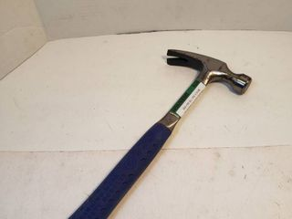 Hammer with Blue Rubber Grip Handle