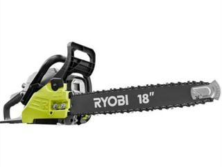 RYOBI 18 in  38cc 2 Cycle Gas Chainsaw with Heavy Duty Case