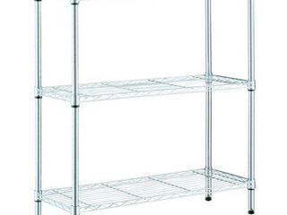 HDX Black 3 Tier Steel Wire Shelving Unit  23 in  W x 30 in  W x 13 in  D  Grey