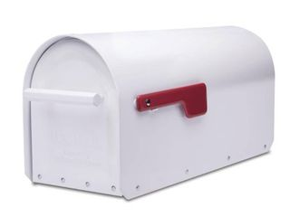 Sequoia Post Mount Mailbox White