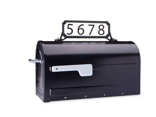Architectural Mailboxes Black Surface Mount Manhattan Mailbox Name Address Kit 3 98 in  H x 1 2