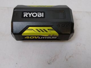 Ryobi OP4040A 40 Volt 4 0 Ah High Capacity lithium Ion Battery with On Board Fuel Gauge  New Open Box