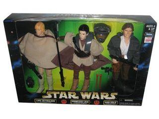 Action Collection luke Kenner Skywalker   Princess leia   Han Solo 12 Inch A 3