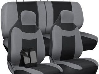 OxGord Car Seat Covers Complete Set Universal Fit Poly Cloth  10 Piece