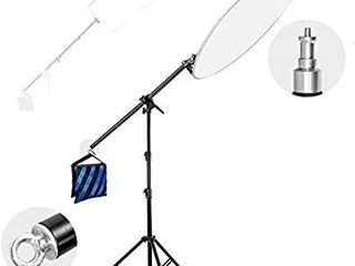 limoStudio Photo Studio 83  Tall lighting Reflector Arm Stand Reflector Stand Holder Boom Arm 78  light Stand  Sandbags Saddlebag  Adapter Clamp Connects Boom Arm to Stand  AGG812