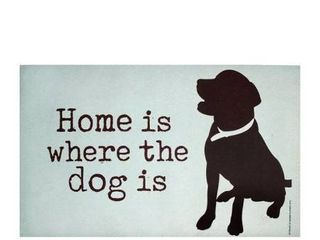 Purple lemonade Dog Doormat   Home Is Where The Dog Is   Artwork By Ginger Oliph