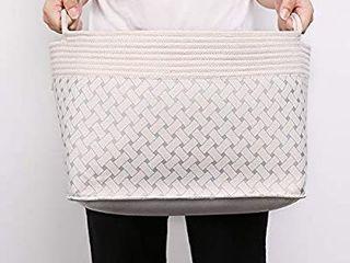 Aimjerry Foldable laundry Basket Collapsible Storage Hamper Cotton Organizer Cloth Solution Set  3 pcs