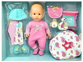 Bitty Baby American Girl 15  Doll   Nursery Set 12 Pcs Blond New  Hard To Find