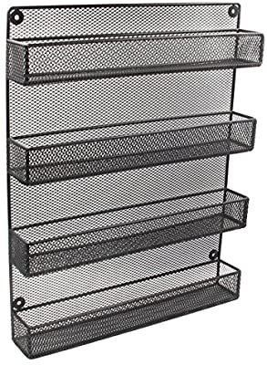 ESYlIFE 4 Tier Wall Mounted Spice Rack Organizer large Kitchen Storage Shelf