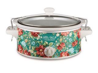The Pioneer Woman 6 Quart Portable Vintage Floral Slow Cooker Model 33362