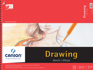 Canson Foundation Series Drawing Pads   18x24    18x24