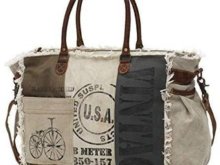Myra Bags Usa Stamped Upcycled Canvas Weekender Bag M 0751