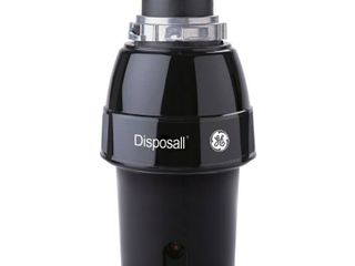 GE   1 2 HP Continuous Feed Garbage Disposer   Black