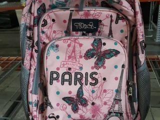 Pink Paris Bag With wheels