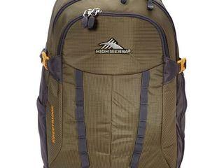 High Sierra Sweetridge Crossover Backpack eBags Exclusive Olive Mercury Gold   High Sierra Day Hiking Backpacks