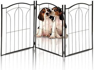 Kleeger Klg 125 Metal Pet Gate  Foldable   Freestanding  For Indoor Home   Use