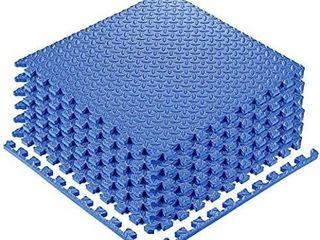 YOGU Puzzle Exercise Floor Mat EVA Interlocking Foam Tiles  6 Tiles  Covers 24 SQ Foot Exercise Equipment Mat Protective Flooring for Home Gym