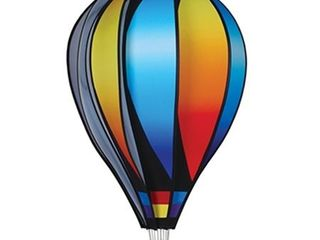 Hot Air Balloon Shaped Wind Spinner  26in    Sunset Gradient