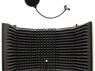 AxcessAbles SF 101 Desktop Recording Studio Microphone Isolation Shield with Pop Filter