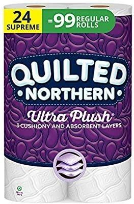 Quilted Northern Ultra Plush Toilet Paper  24 Supreme Rolls  24   99 Regular Rolls  3 Ply Bath Tissue  3 Packs of 8 Rolls