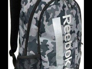 Reebok Trainer laptop Water Resistant Backpack  black Camo  Rbf92202